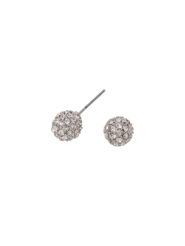 Silver Crystal Pave Studs