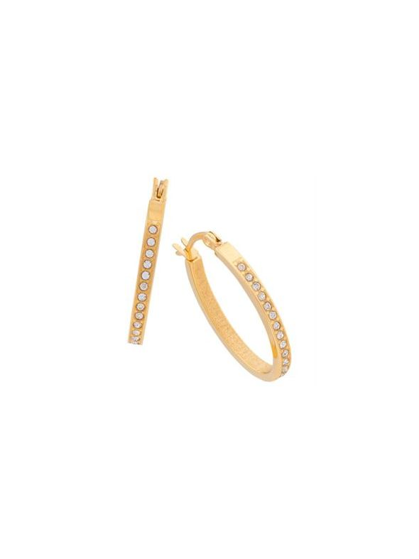 Crystal Hoops Gold