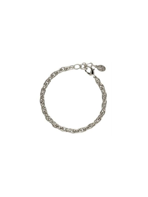 Silver Textured Rope Bracelet