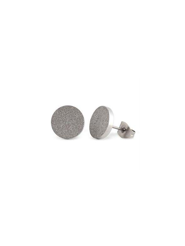 Silver Diamond Dust Studs