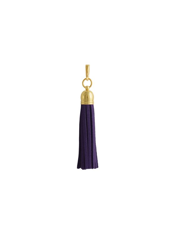Purple Leather Tassel