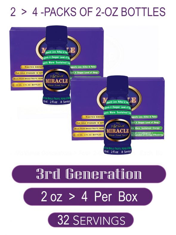 ViaViente Pack 2oz Bottles  (4 Btls per Pack) 8 pack