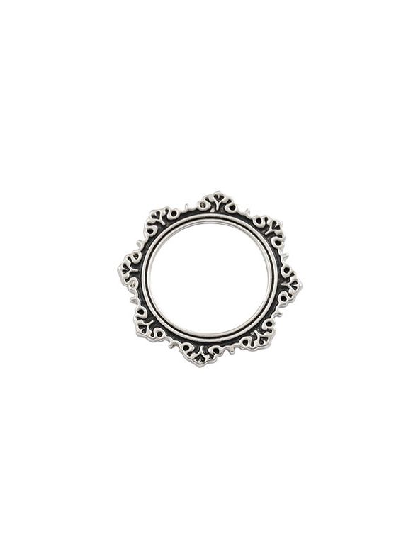 Antique Silver Circle Frame