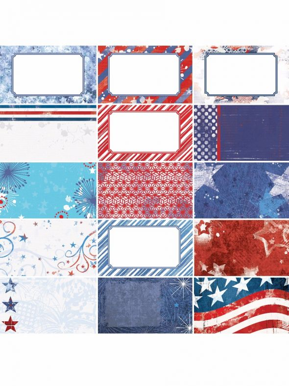 Red, White & Beautiful by Katie Pertiet Journal Cards